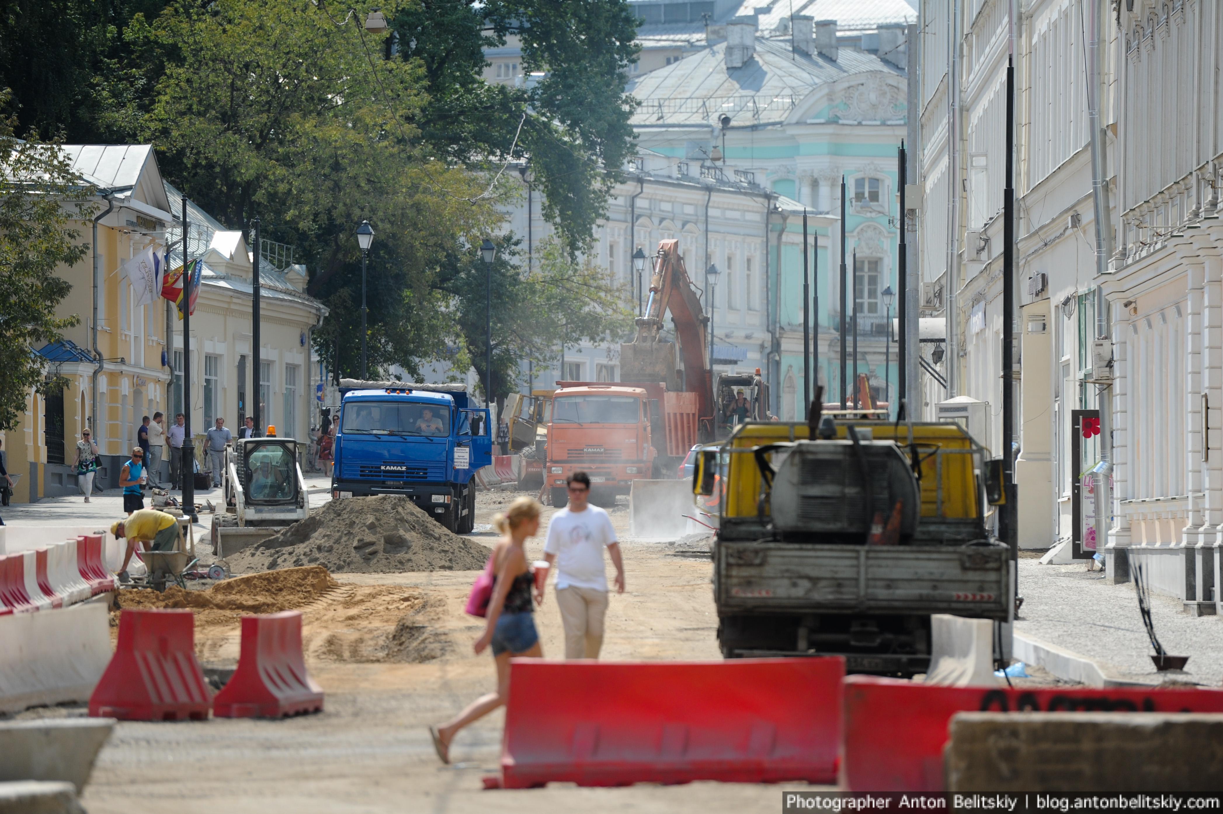 Реконструкция улиц Покровка и Маросейка