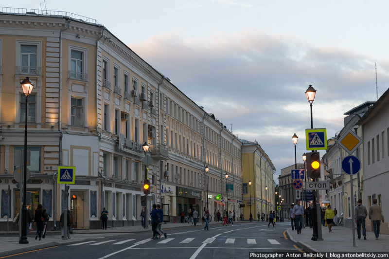 Улицы Покровка и Маросейка после реконструкции