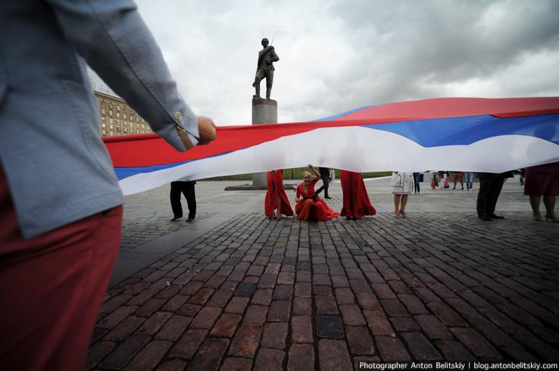 День флага на Поклонной горе