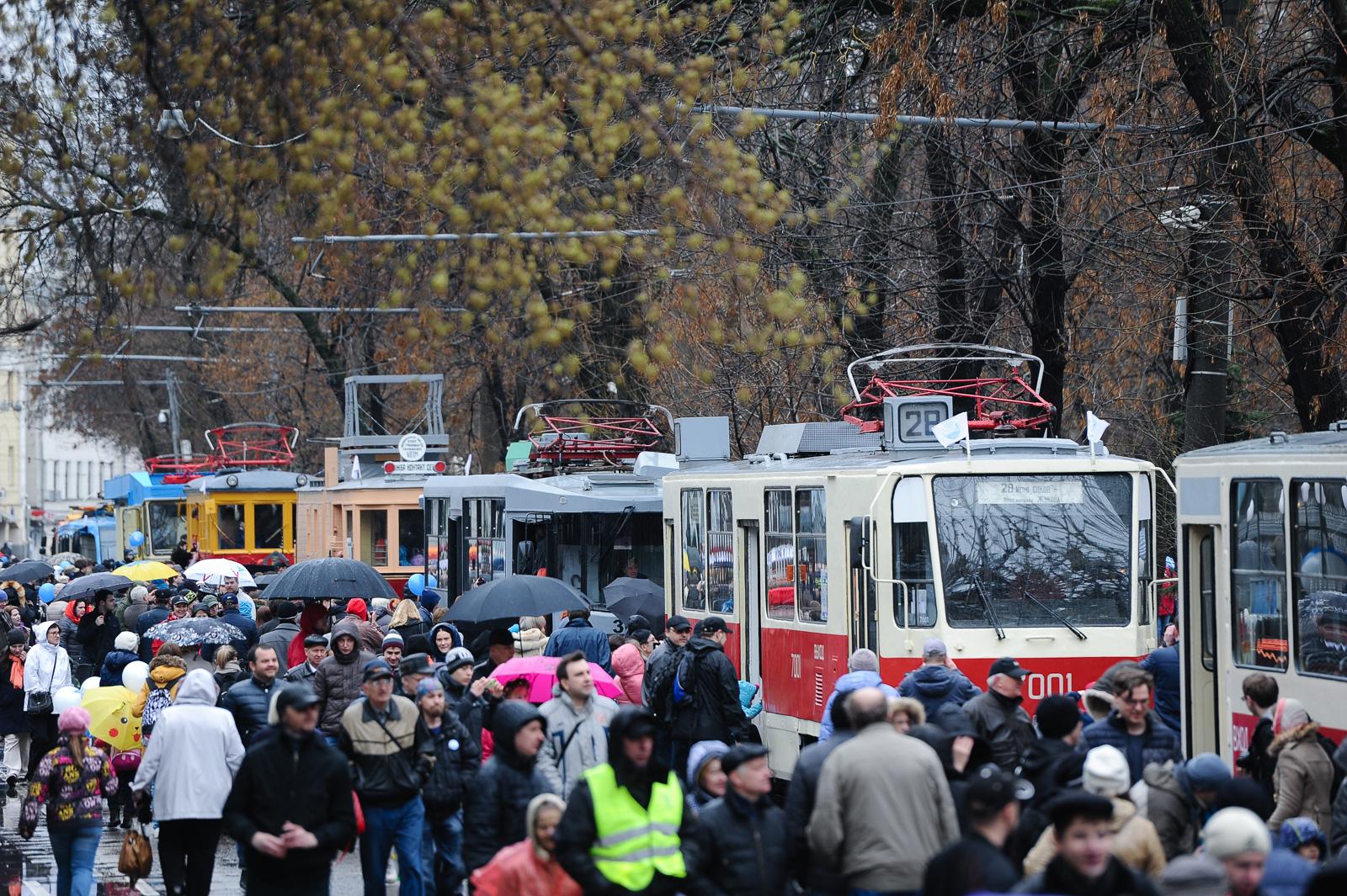 Праздник московского трамвая. Фоторепортаж