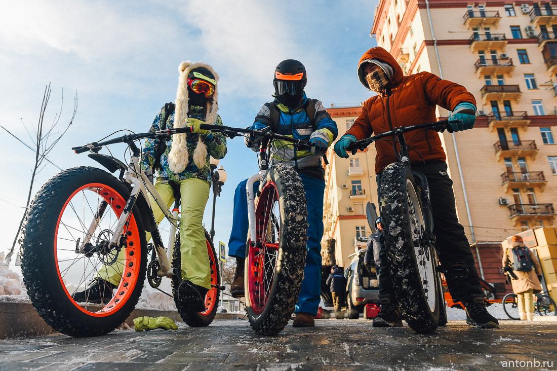 Второй зимний Московский Велопарад прошел при -28